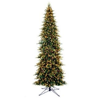 Slim Fir Christmas Tree 15 ft. Pre Lit 1950 Clear Lights Storage Bag