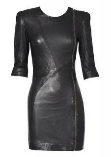 NEW GENUINE SOF LAMBSKIN LEAHER DRESS FOR WOMEN DESIGNER WEAR D30