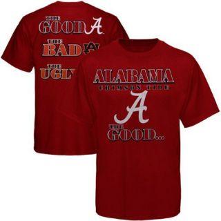 Alabama Crimson Tide The Good The Bad The Ugly T shirt   Crimson