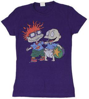 Best Friends   Rugrats Sheer Junior Womens T shirt