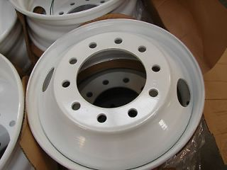 22.5x8.25 10 LUG HUB PILOT STEEL DUAL DUALLY WHEELS RIMS 22.5