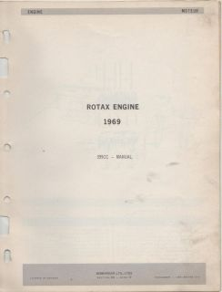 1969 BOMBARDIER SKI DOO ROTAX ENGINE PARTS MANUAL 399CC