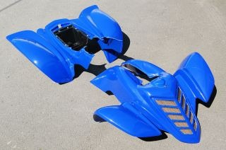 YAMAHA RAPTOR 660 DARK BLUE PLASTIC FRONT AND REAR FENDERS PLASTICS