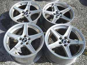 Aftermarket Cobra Polished Alloy Wheel Rim Set 18X9 18X10 for Mustang
