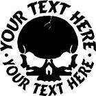 CUSTOM 4 SKULL MOTORCYCLE HELMET DECAL STICKER CAR
