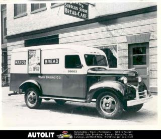 1938 Dodge Wards Bread Truck Factory Photograph