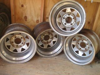 KEYSTONE VINTAGE 8 SPOKE CHROME DRAG RACING WHEELS RIMS