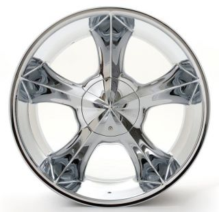 24 PLAYER 817 CHROME Rims+Tires PKG 5X127 5X135 CHEVY CARS AND