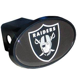 RAIDERS 2 plastic trailer hitch cover with domed team insert NFL