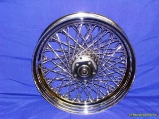 16 CHROME TWISTED 80 SPOKE FRONT WHEEL FOR HARLEY SOFTAIL 86 99