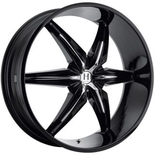 22 inch Helo HE866 black wheels rims 6x5 6x127 +35