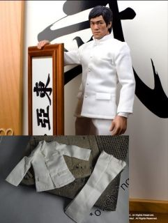 Bruce Lee 1/6 Fist Of Fury White Suit @ Costume HotToys DX04 Enterbay