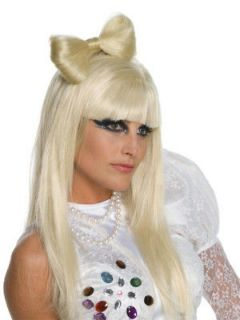 lady gaga bow hair clip blonde wig licensed costume accessory video