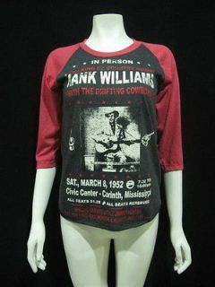 HANK WILLIAMS The King of country music T Shirt Women M