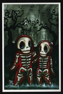 4x6 print day of the dead dia de los muertos outsider goth art