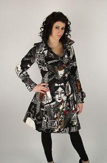 Desigual   Size 38   Vida Real Coat Abrig Black Dream Graphic 17E2997