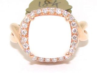 Visconti 18kt Rose Gold 4ct White Princess Agate Diamond Band Ring