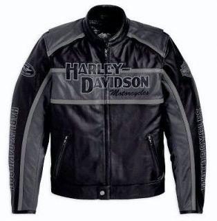 NEW HARLEY DAVIDSON CLASSIC CRUISER LEATHER JACKET L LARGE LG