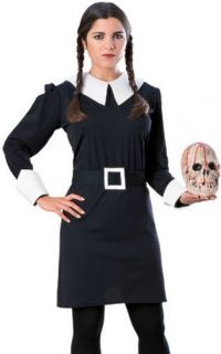 Adult Womens Addams Family Wednesday Fancy Dress Halloween Costume