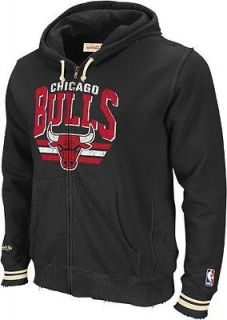 Chicago Bulls Mitchell & Ness Sz XL Black Stadium Full Zip Hoody