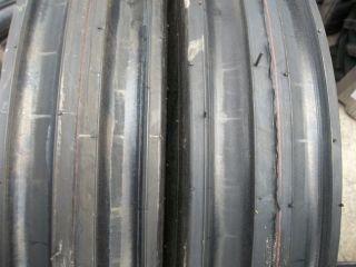 550 16,5.50X16 Hesston 45 66 Six Ply 3 Rib Farm Tractor Tires w/Tubes