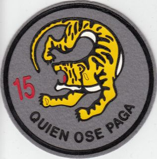 PATCH SPAIN AIR FORCE 15th WING ZARAGOZA AFB F/A 18 PARCHE