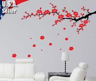 Art Vinyl Decal Sticker L Cherry Blossom Branches Flower Birds #205