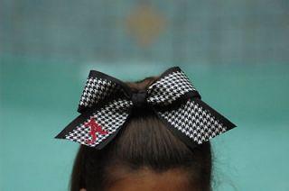 Alabama Bama Embroidered Houndstooth Cheerleading Hair Bow Bama Girl
