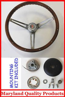 1967 Olds Cutlass 442 Delta GRANT Wood Steering Wheel Walnut 15 NEW