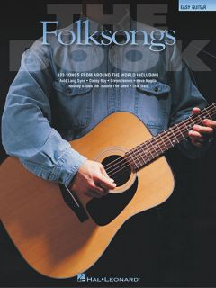 The Folksongs Book Easy Guitar Folk Songs Chords Lyrics Sheet Music
