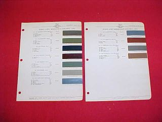 ORIGINAL FORD MERCURY CAR PAINT CHIPS COLOR CHART BROCHURE GUIDE 41