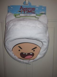 Adventure Time Cartoon Network White Finns Hat Kids NWT New