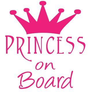 PRINCESS ON BOARD (PINK) CAR WINDOW DECAL   Custom Made