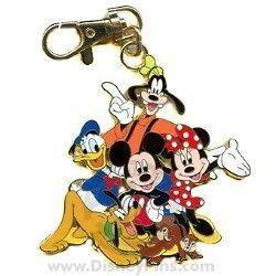 DIsney Lanyard Medal Mickey & the Gang with CHip & Dale New on Card