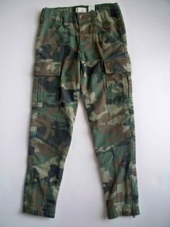 Childrens Place Girls Skinny Green Camouflage Stretch Jeans Pants 5 6