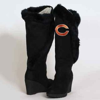 Cuce Shoes Chicago Bears Ladies Cheerleader Boots   Black