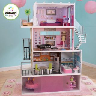 KidKraft Beachfront Mansion Dollhouse Girls Pretend Play House  65385