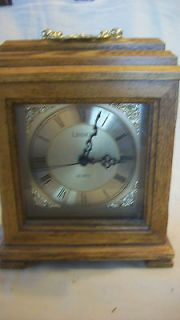 LINDEN QUARTZ MANTEL CLOCK, OAK FINISH