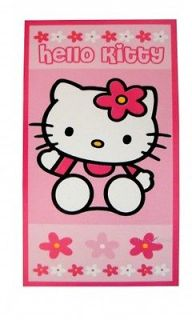 Hello Kitty Flowers Printed Beach Towel Brand New Gift