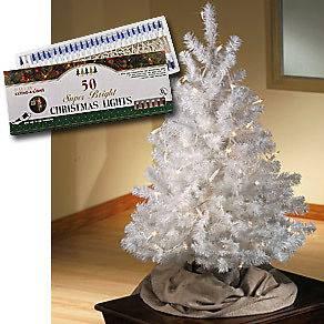 ALL SEASONS WHITE ARTIFICIAL CHRISTMAS TREE 3 feet tall ~NEW ***FREE