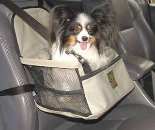 Outward Hound Pet Dog Lookout Car Booster Seat Gray