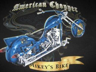 CHOPPER MIKEYS BIKE OCC SMALL BLACK T TEE SHIRT ORANGE COUNTY CHOPPER