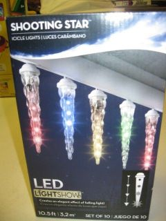 Star Light Show LED Icicle Light Set Multi Color Falling Light Show
