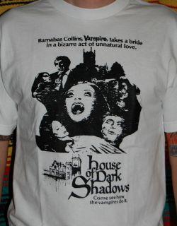 House of DARK SHADOWS hammer horror movie VAMPIRES Johnny Depp T Shirt