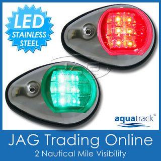 STAINLESS STEEL LED BOAT NAVIGATION LIGHTS  Trailer Boat/Marine/Ru