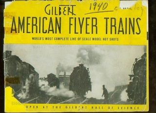 1940 American Flyer Trains model train catalog