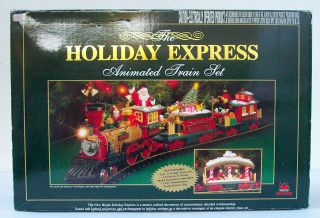 Vintage Holiday Express Animated Train Set Christmas 384 In Box New