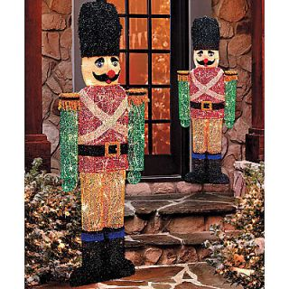 OUTDOOR SET OF 2 CHRISTMAS SOLDIERS Yard Art Display Holiday Decor