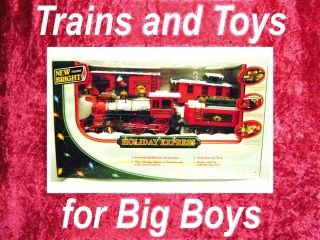 New Bright HOLIDAY EXPRESS TRAIN SET G Scale Gauge Battery Christmas