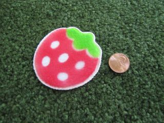 STRAWBERRY RUG CARPET for Dollhouse Mini Miniature Hard to Find BRAND